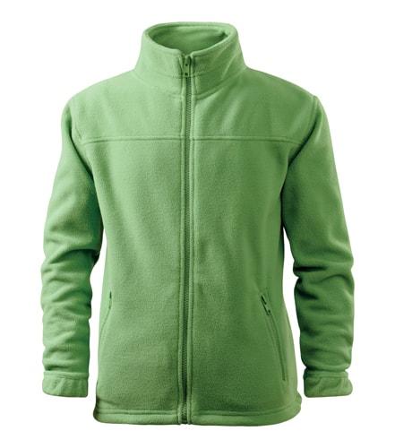 Dětská fleecová mikina Jacket - Trávově zelená | 110 (4 roky)