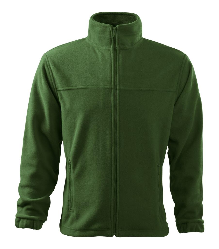 Pánská fleecová mikina Jacket - Lahvově zelená | XXL