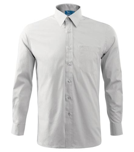 Pánská košile s dlouhým rukávem Adler - Bílá   L