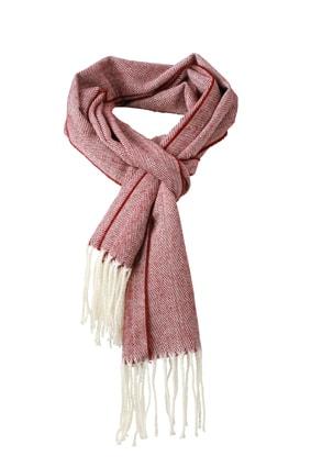 Elegantní tkaná šála MB7974 - Tmavě červená   180 x 130 cm