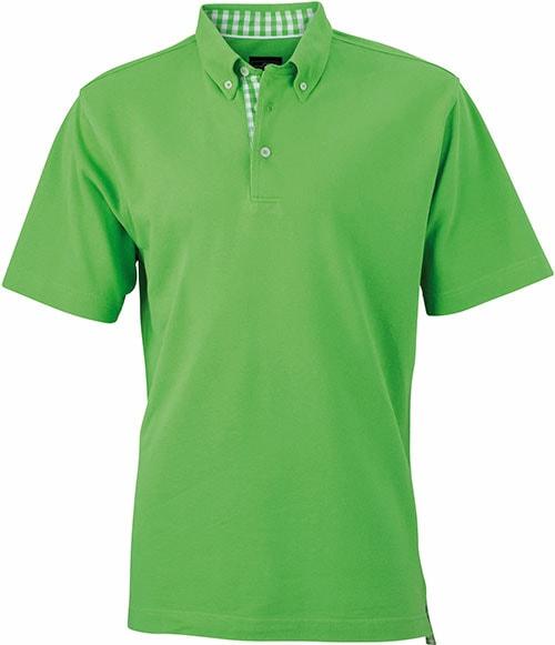 Elegantní pánská polokošile JN964 - Limetkově zelená / limetkově-bílá | XXXL