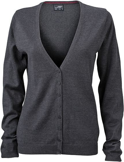 Dámský bavlněný svetr JN660 - Antracitový melír | L