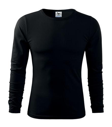 Pánské tričko s dlouhým rukávem Fit-T Long Sleeve - Černá | XXXL