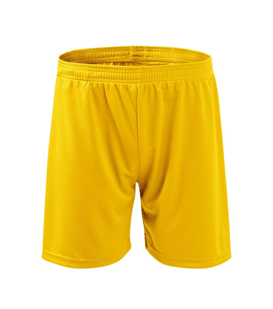 Pánské/dětské sportovní kraťasy - Žlutá | XL