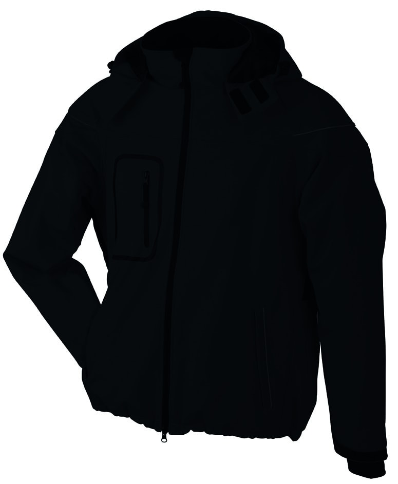 James & Nicholson Zimná pánska softshellová bunda JN1000 - Černá   XL