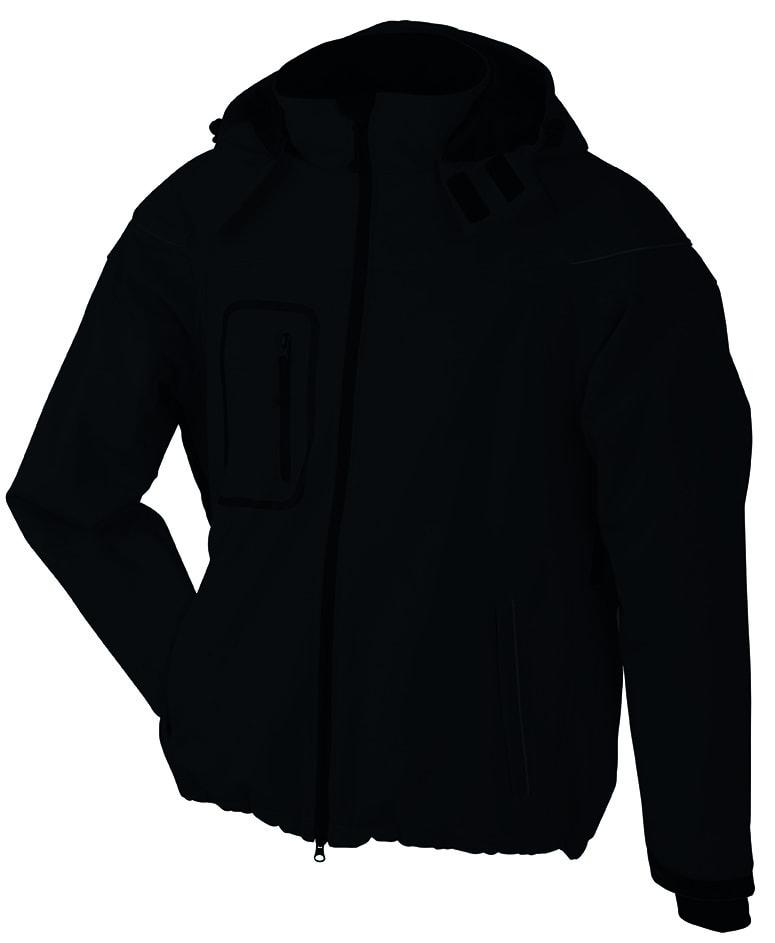 James & Nicholson Zimná pánska softshellová bunda JN1000 - Černá   XXL