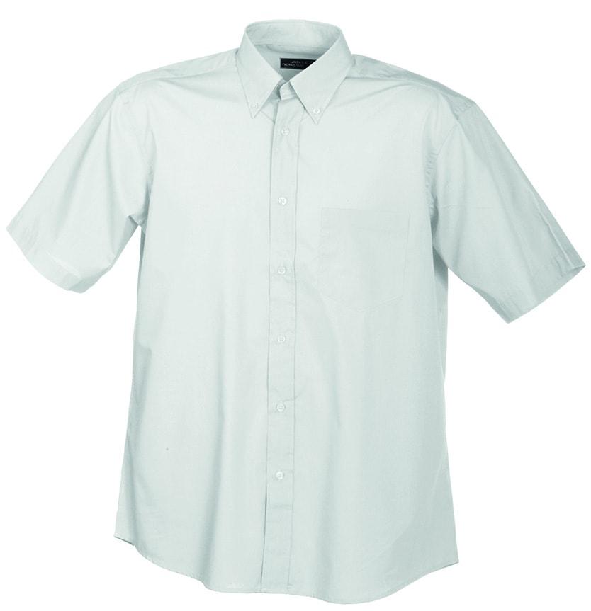 Pánská košile s krátkým rukávem JN601 - Bílá | XXXL