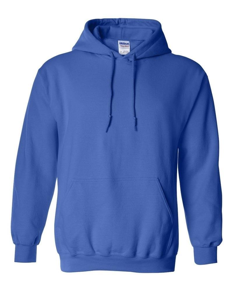 Mikina s kapucí Gildan - Královská modrá | M