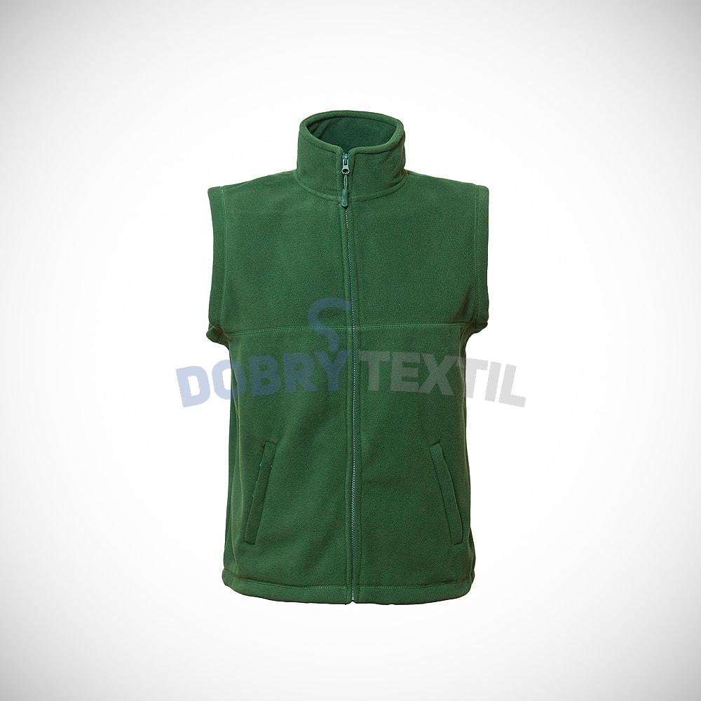 Fleecová vesta - Lahvově zelená | XXXL