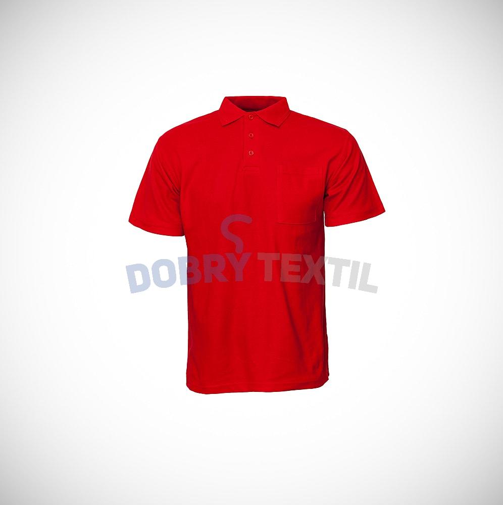Pique pánská polokošile s kapsičkou - Červená | XXL