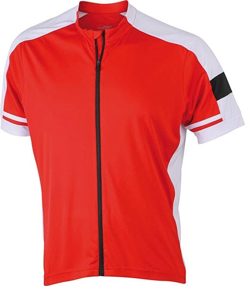 Pánský cyklistický dres JN454 - Červená | XXL