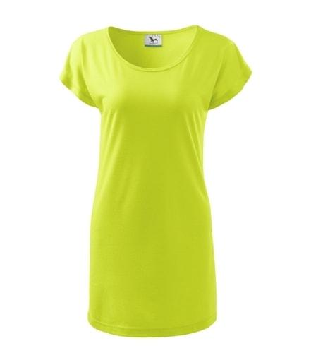 Dámské dlouhé tričko - Limetková | XL