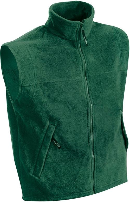Pánská fleecová vesta JN045 - Tmavě zelená | XXXL