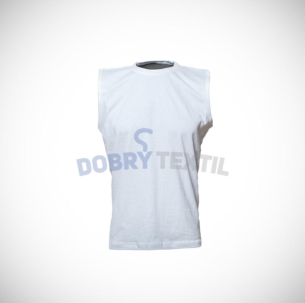 Pánské tričko bez rukávů - Bílá | XL