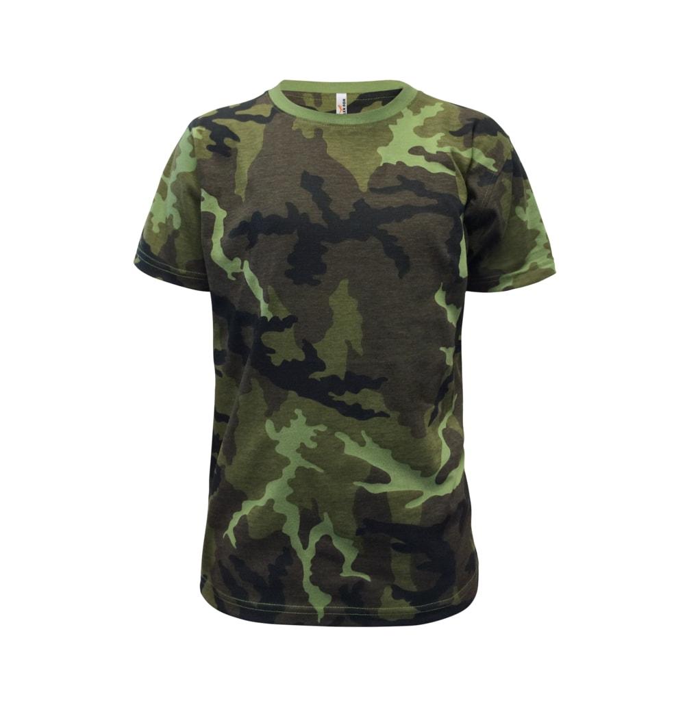 Alex Fox Detské maskáčové tričko - 122 cm / 6 let