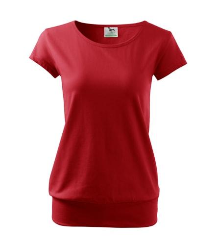 Dámské tričko City - Červená | S