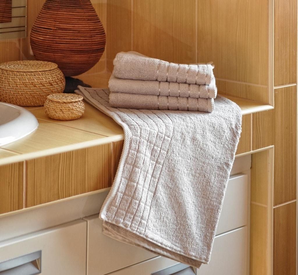 Bambusový ručník - Šedá   50 x 100 cm