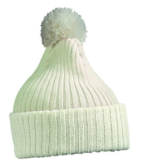 Myrtle Beach Pletená čiapka s brmbolcom MB7540 - Šedo-bílá | uni