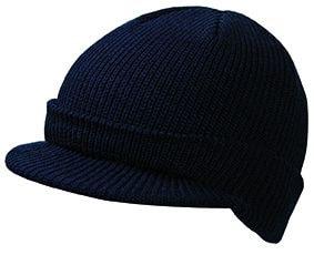 Zimní čepice s kšiltem MB7530 - Černá | uni