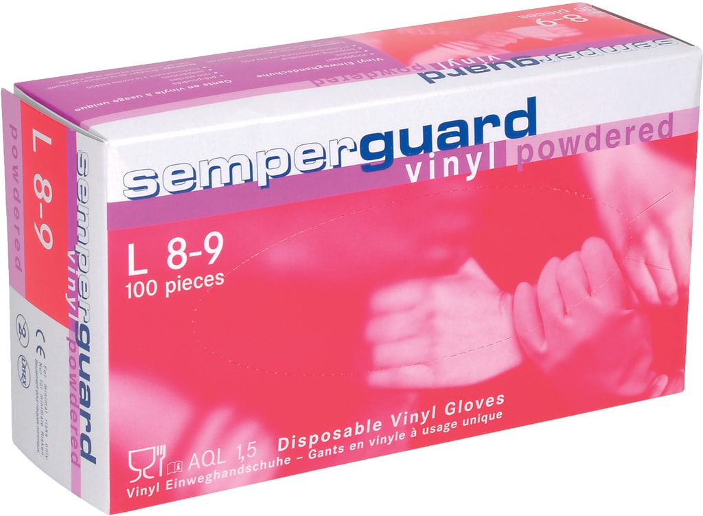 Vinylové rukavice pudrované - 10