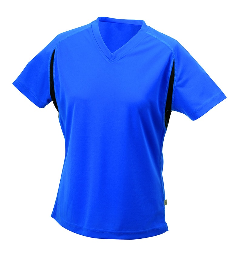 Dámské sportovní tričko s krátkým rukávem JN316 - Královská modrá / černá | M
