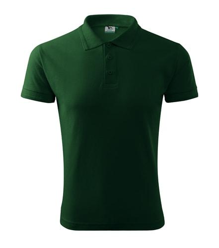 Pánská polokošile Pique Polo - Lahvově zelená   L