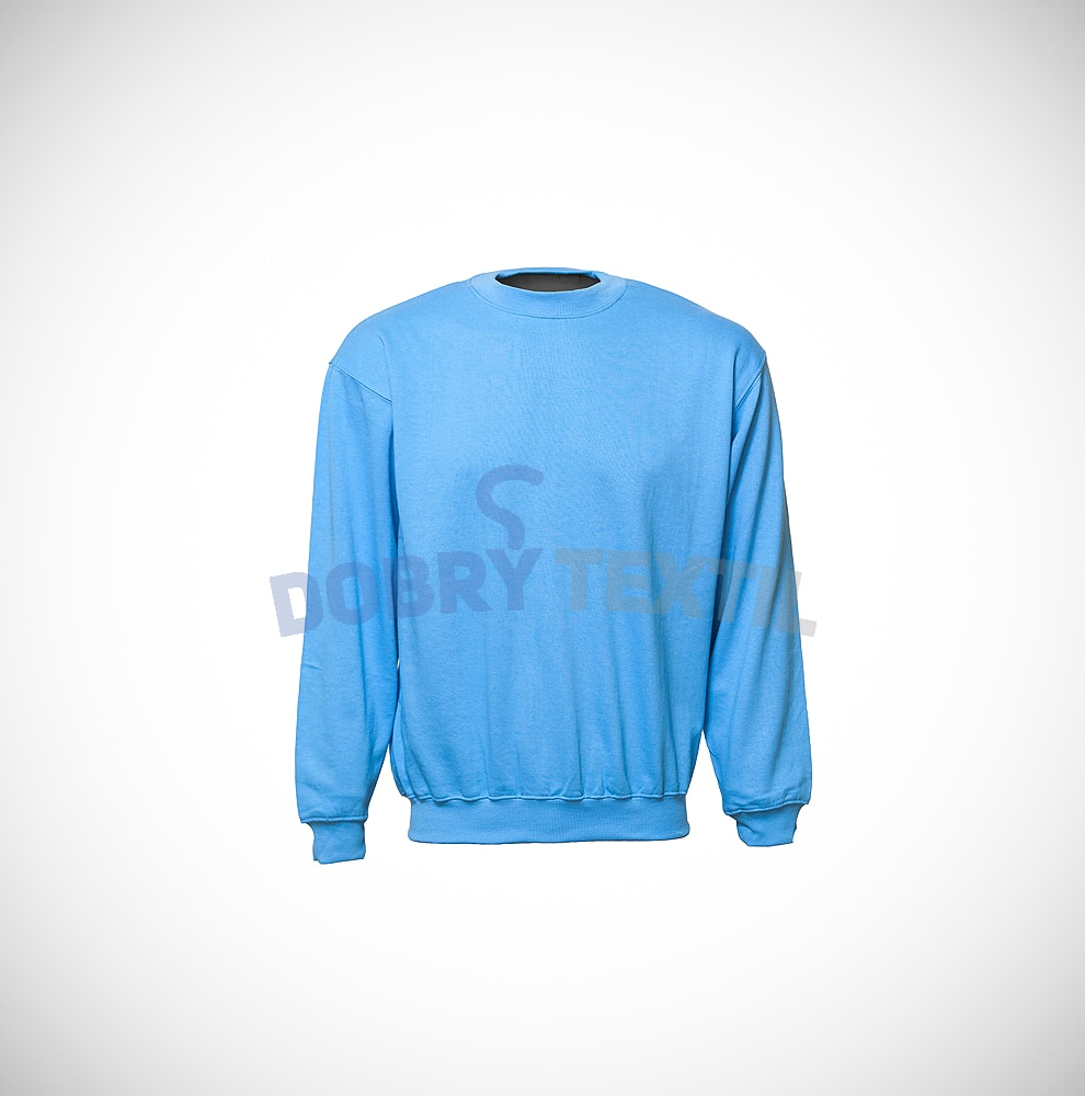 Mikina bez kapuce - Světle modrá | XXXL