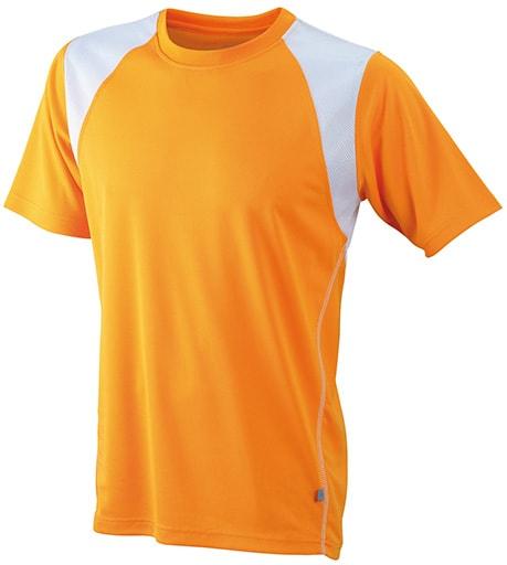 Dětské sportovní tričko s krátkým rukávem JN397k - Oranžová/ bílá | XXL