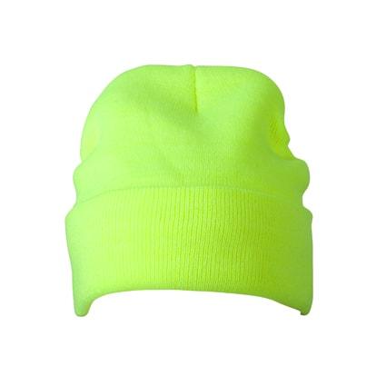 Zimní pletená čepice Thinsulate MB7551 - Neonově žlutá