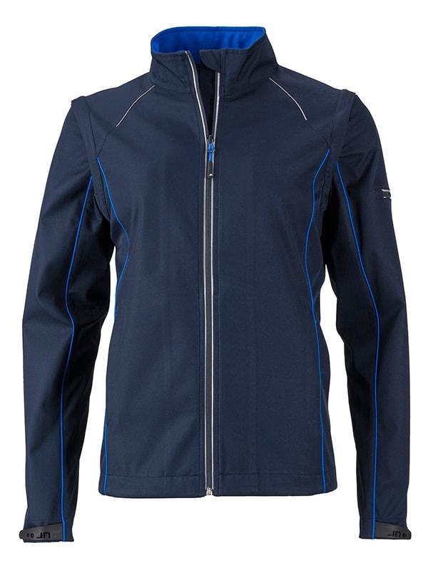 Dámská softshellová bunda 2v1 JN1121 - Tmavě modrá / královsky modrá | XXL