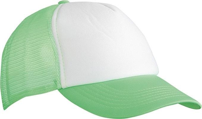5 panelová kšiltovka MB070 - Bílá / neonově zelená | uni