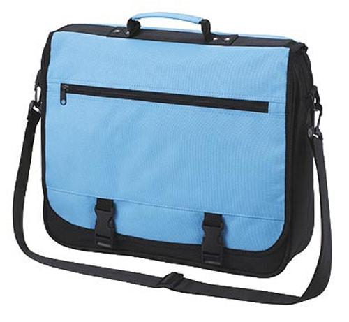 Velká taška přes rameno BUSINESS - Světle modrá
