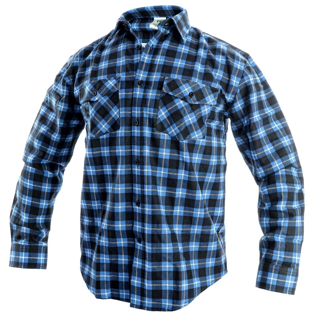 Pracovní flanelová košile TOM - Modrá | 43/44