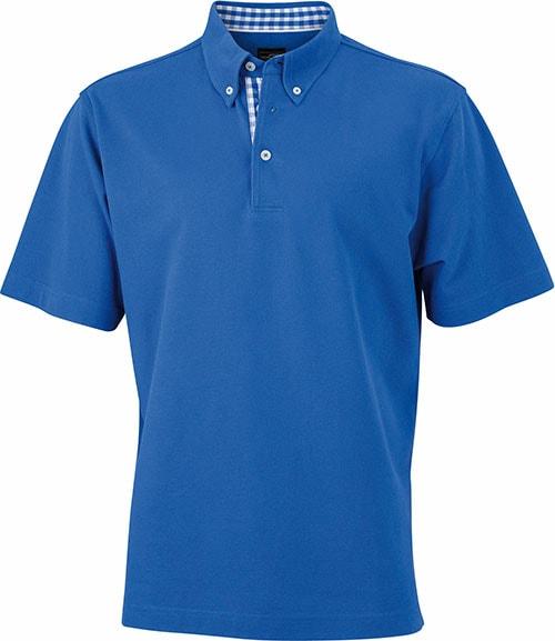 Elegantní pánská polokošile JN964 - Královská modrá / královsky modro-bílá | XXXL