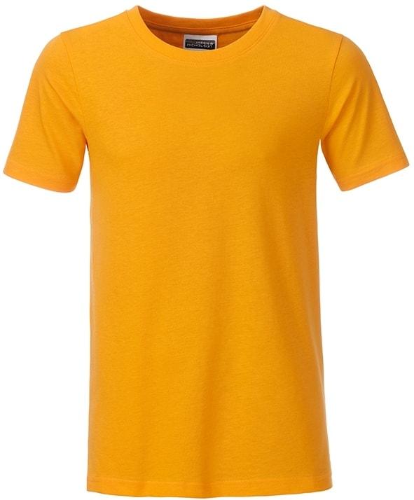 Klasické chlapecké tričko z biobavlny 8008B - Zlatě žlutá | L