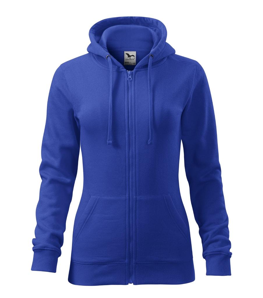 Dámská mikina s kapucí Trendy - Královská modrá | XL