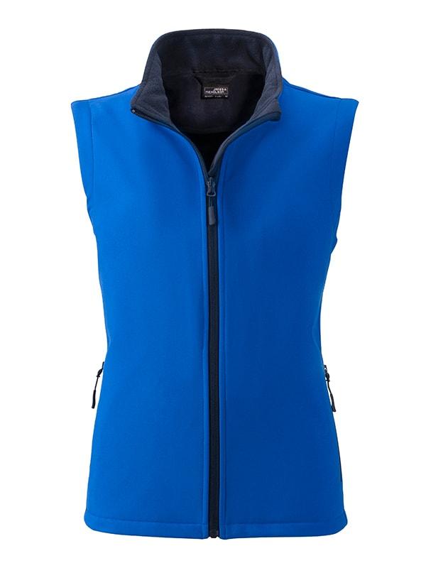 Dámská softshellová vesta JN1127 - Světle modrá / tmavě modrá | M
