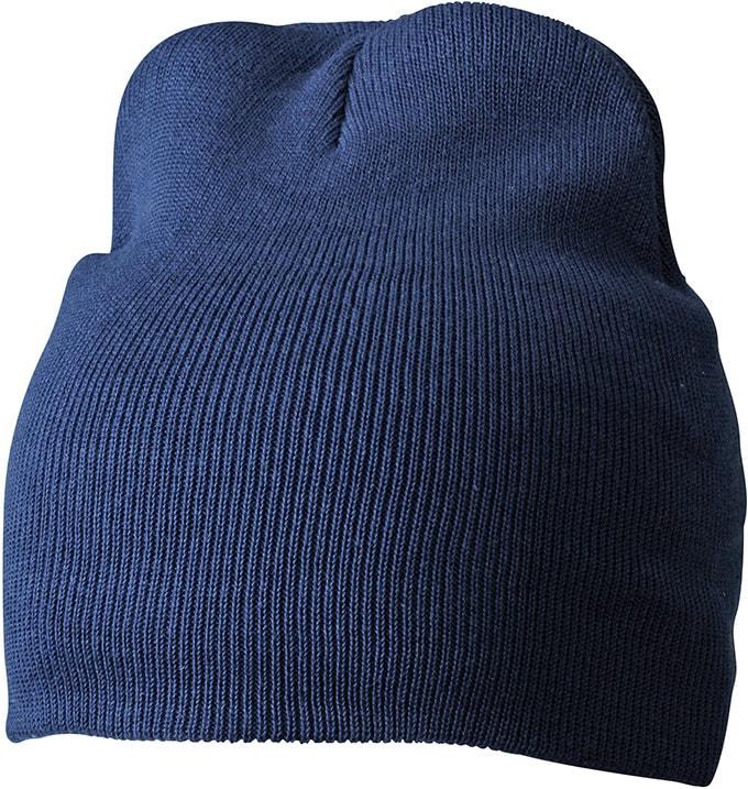 Zimní pletená čepice MB7926 - Tmavě modrá