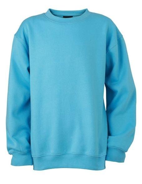 Dětská mikina bez kapuce JN040k - Nebesky modrá | XL