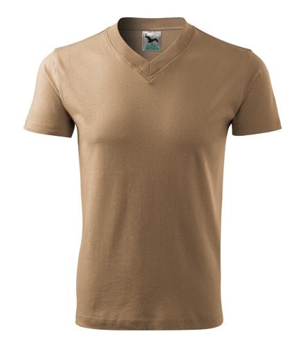 Pánské tričko V-neck Adler - Písková | XXL