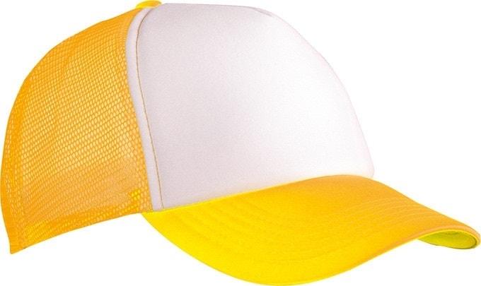 5 panelová kšiltovka MB070 - Bílá / neonově žlutá | uni