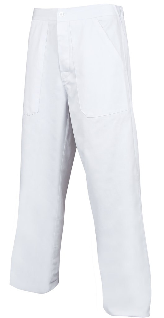 Pánské bílé pracovní kalhoty - 48