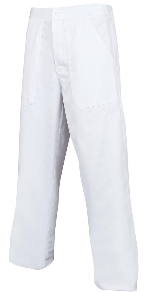 Pánské bílé pracovní kalhoty - 52