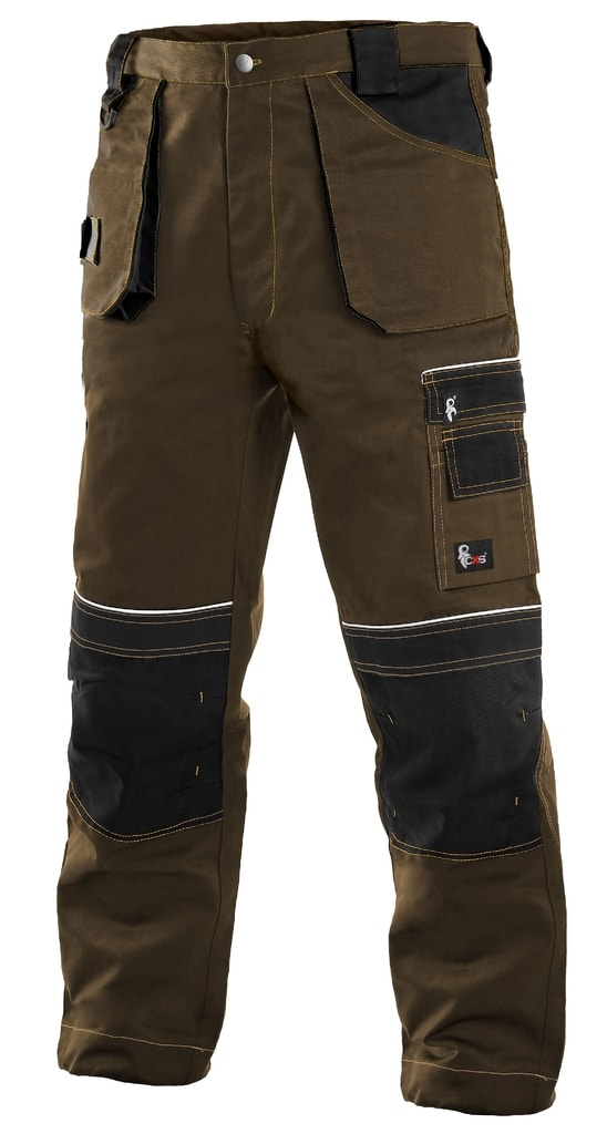 Montérkové kalhoty ORION TEODOR - Hnědá / černá | 64