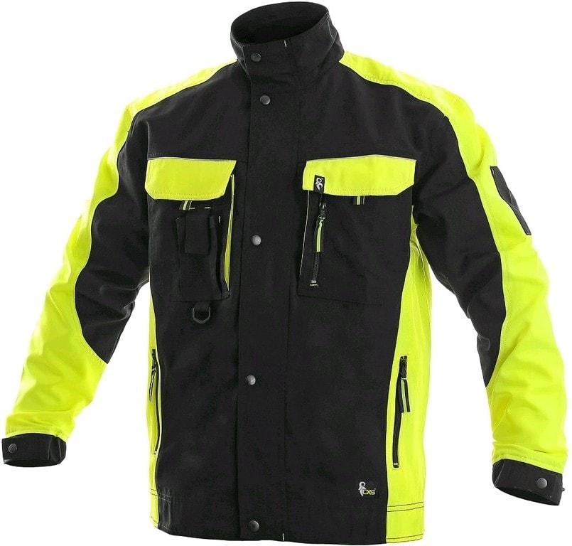 Zimná pracovná bunda SIRIUS BRIGHTON - Černá / žlutá | 44-46