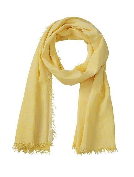 Bavlněná šála Gipsy MB6594 - Světle žlutá | 180 x 80 cm