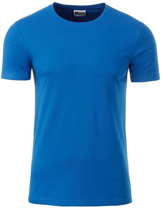 Klasické pánské tričko z biobavlny 8008 - Kobaltová | M