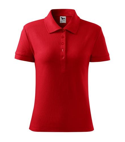 Dámská polokošile Cotton Heavy - Červená | S