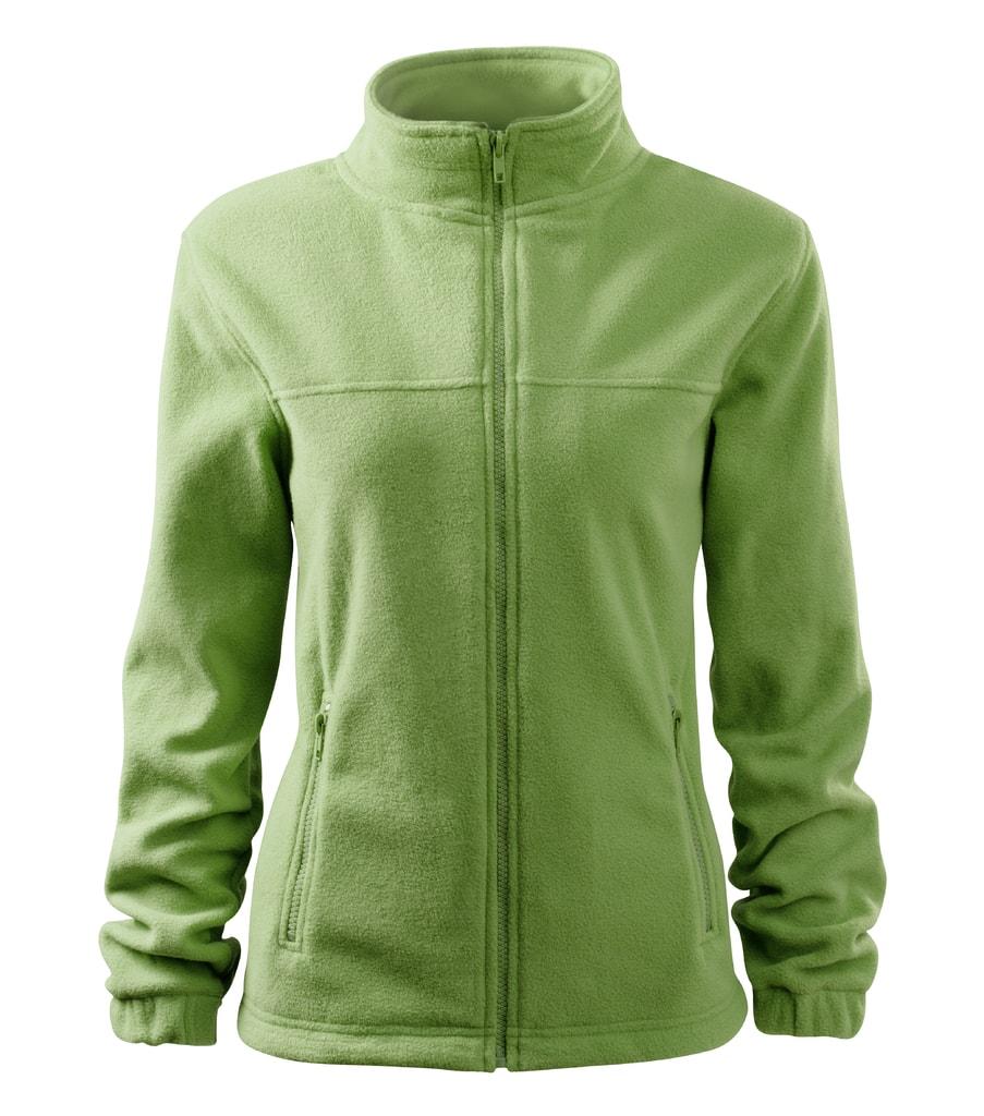 Dámská fleecová mikina Jacket - Trávově zelená | XL