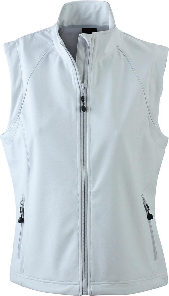 Dámská softshellová vesta JN1023 - Šedo-bílá   L